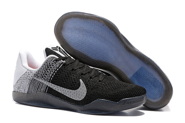 Women Nike Kobe 11 Flyknit Black Grey Shoes