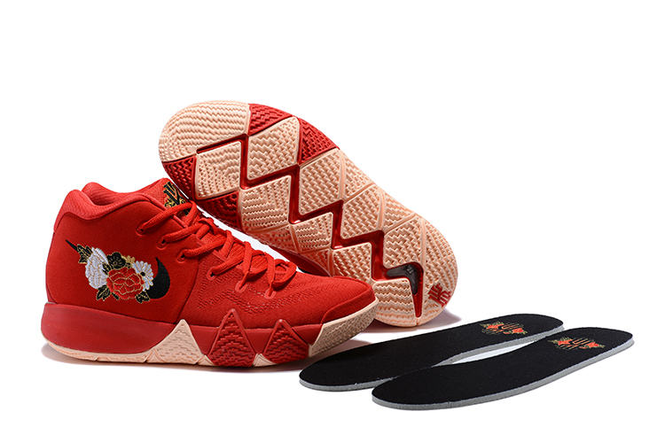 Women Nike Kyrie 4 China Red Shoes