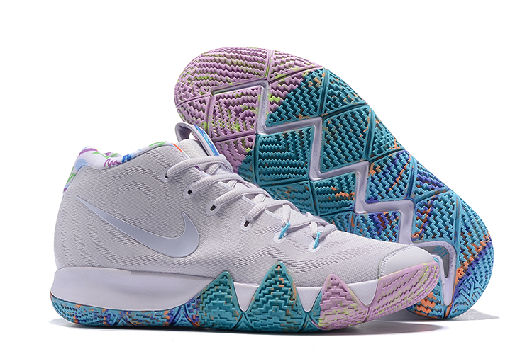 Women Nike Kyrie 4 Easter White Jade Shoes