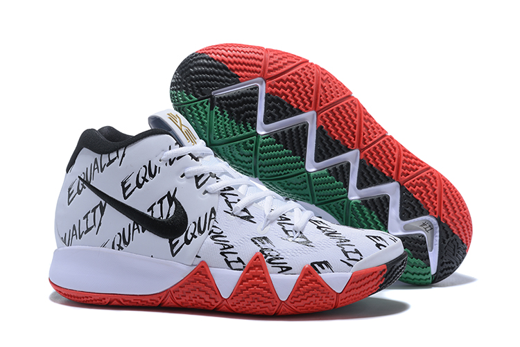 Women Nike Kyrie 4 White Black Red Green Shoes