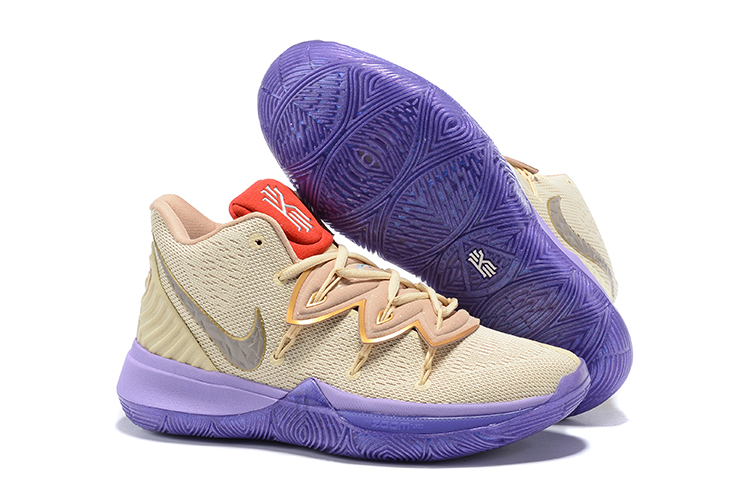 Women Nike Kyrie 5 Brown Purple Red Shoes