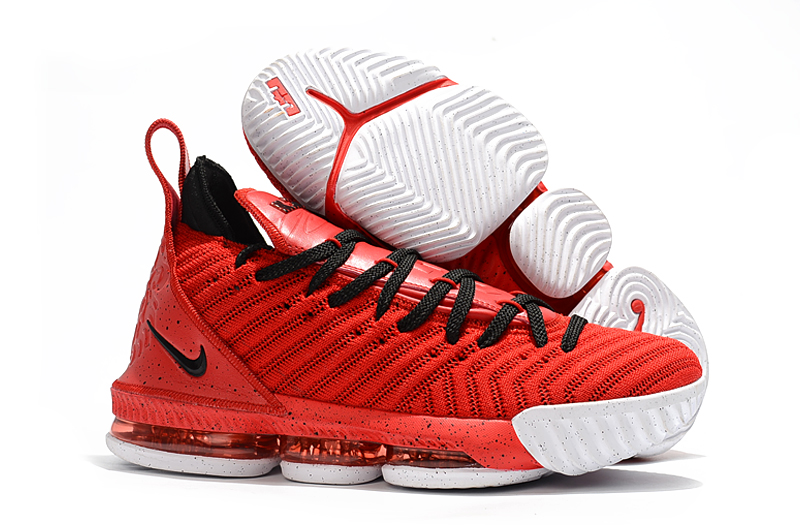 Women Nike Lebron James 16 Red Black Shoes