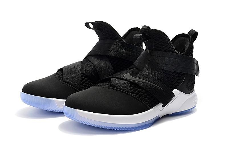 Women Nike Lebron Soldier 12 Black White Ice Sole Shoes  18kobe8510 ... a5010840cc