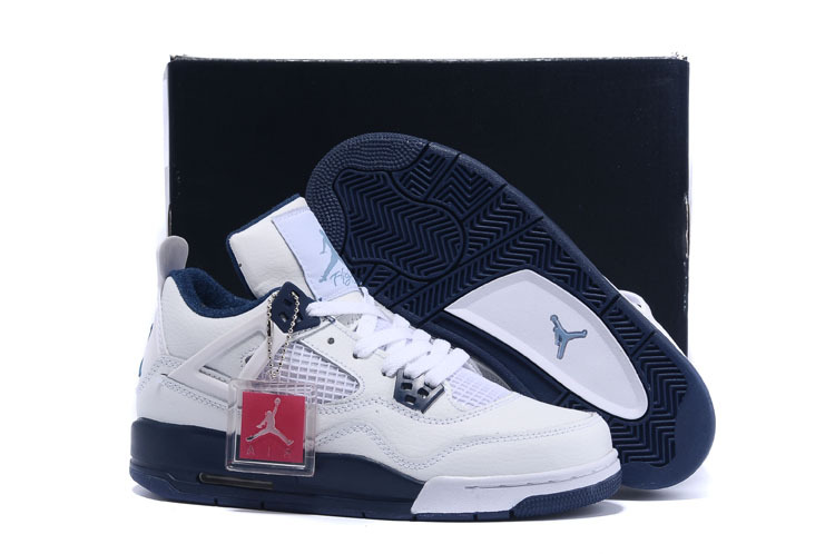 Women Nike Air Jordan Retro 4 Columbia Shoes