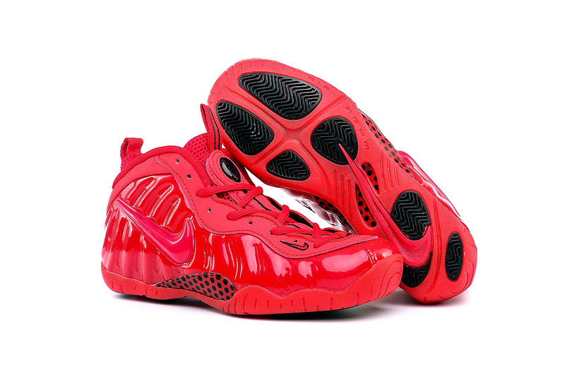 Women Nike Air Foamposite One All Red Shoes