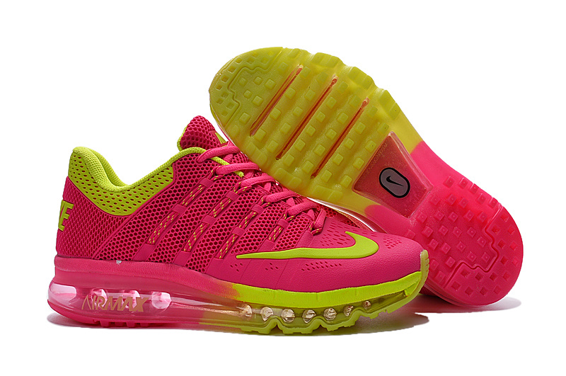 Women Nike Air Max 2016 Pink Red Fluorscent Shoes