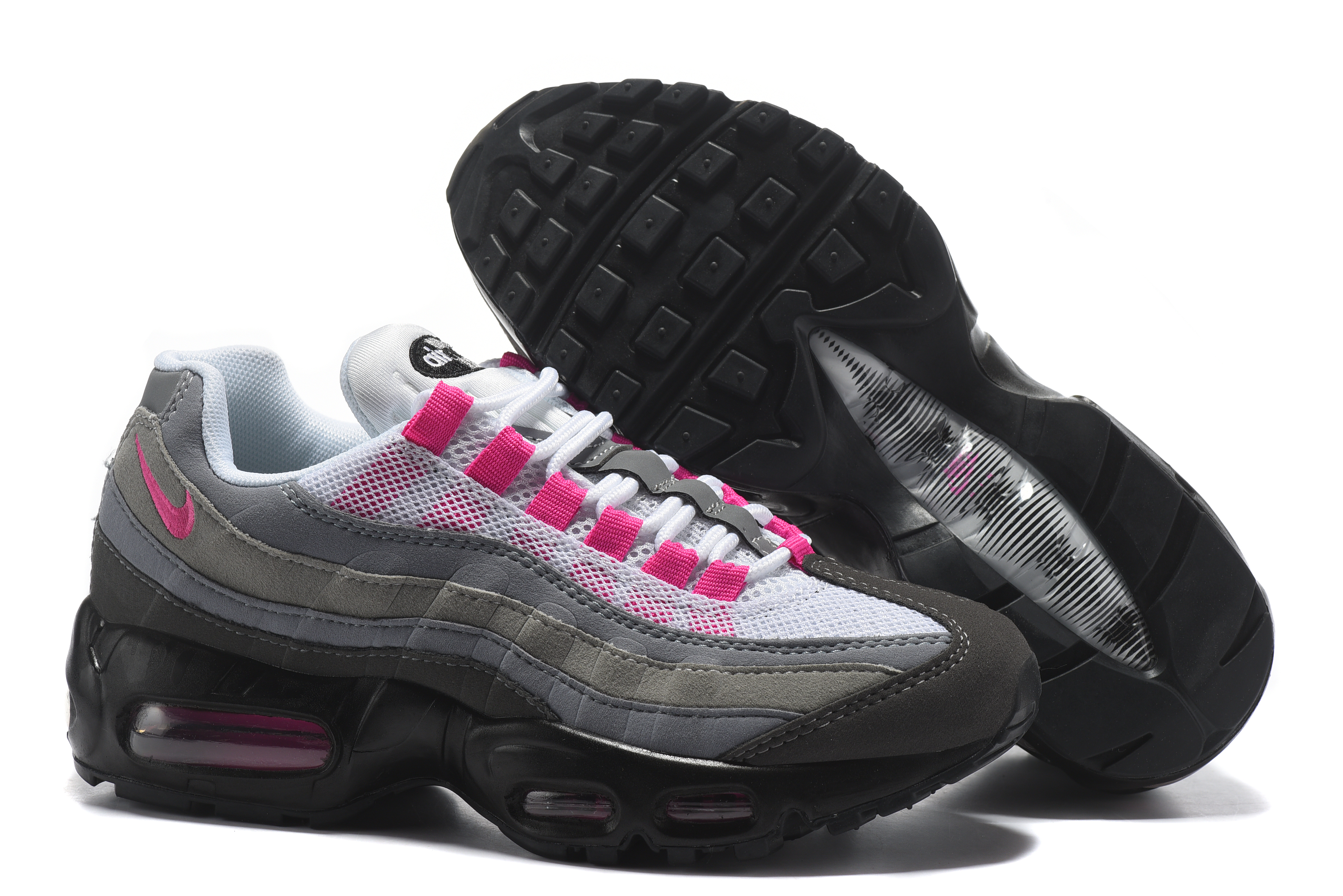 grey pink womens nike air max 95 shoes