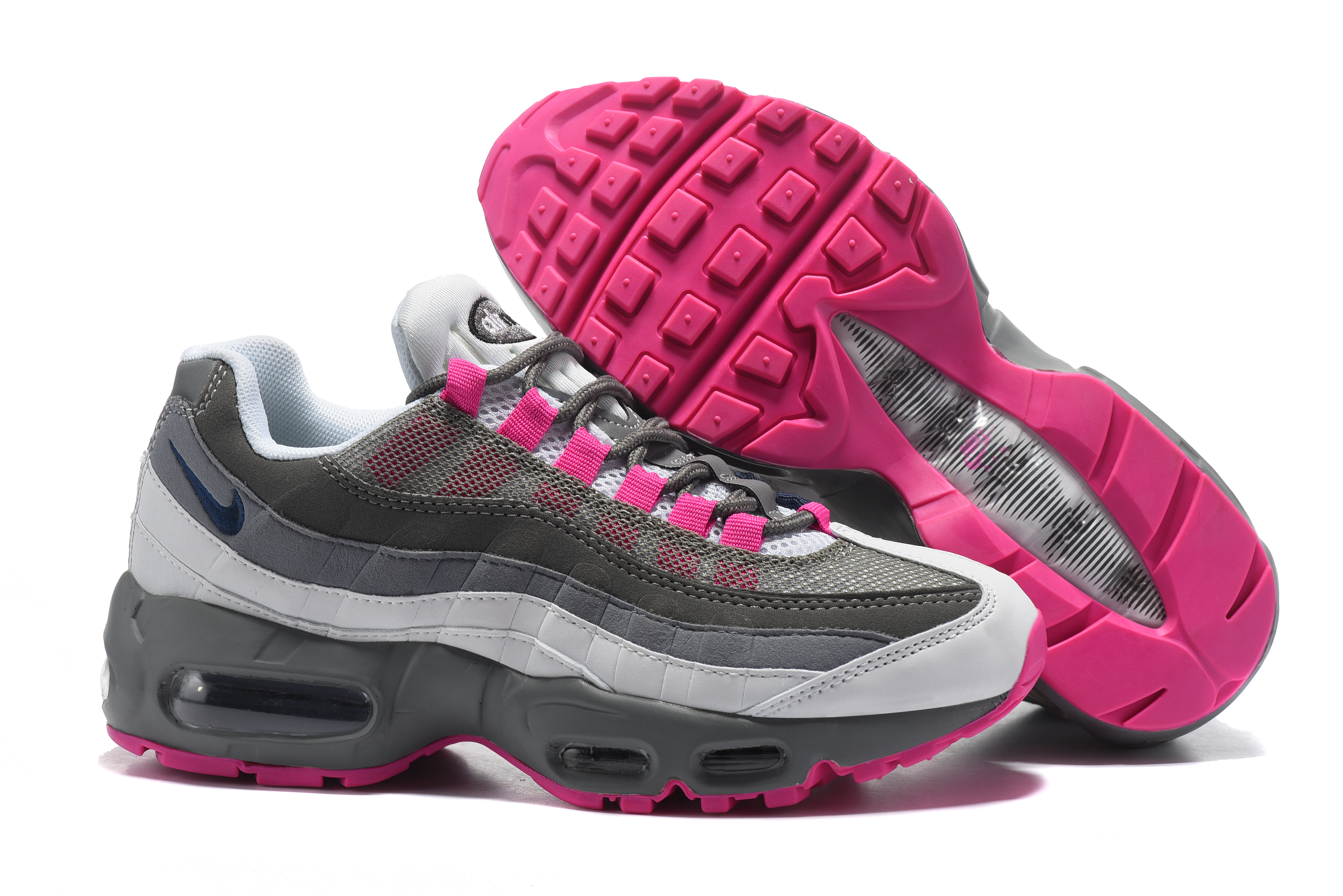 Women Nike Air Max 95 Grey Pink Shoes
