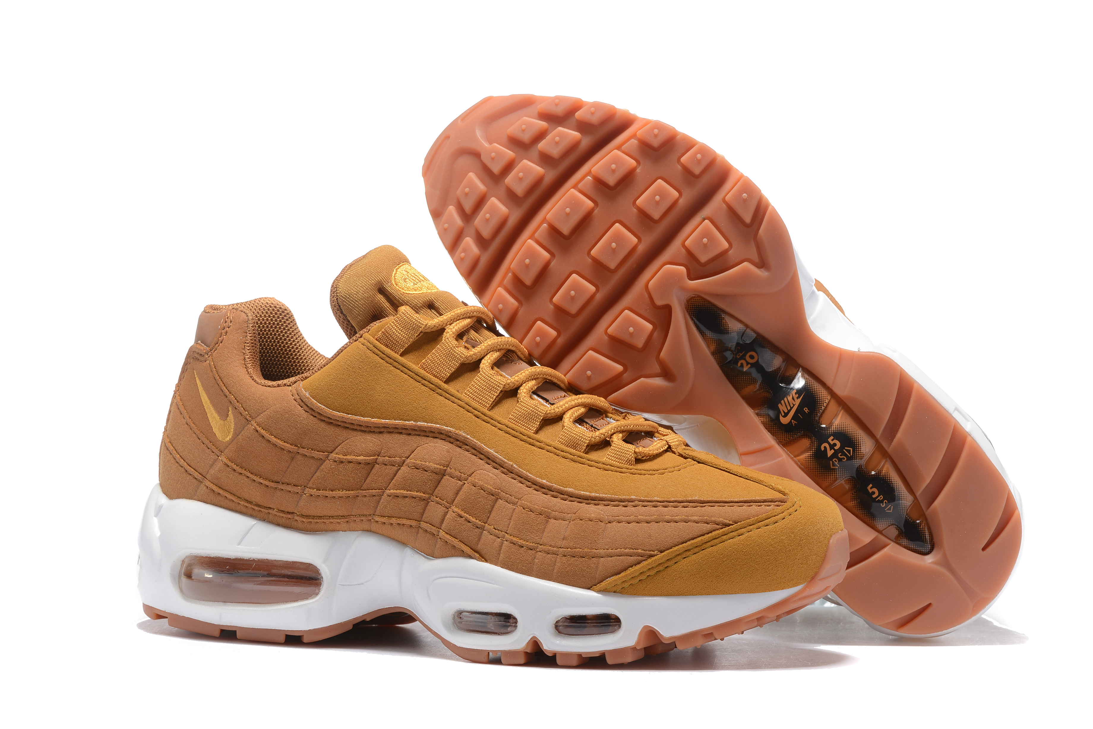 Women Nike Air Max 95 Yellow Brown Shoes