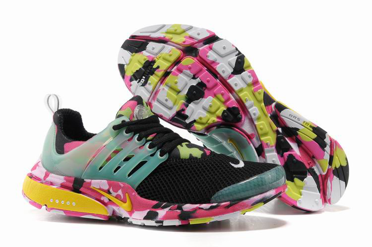 Women Nike Air Presto 1 Camo Black Light Green Pink Shoes