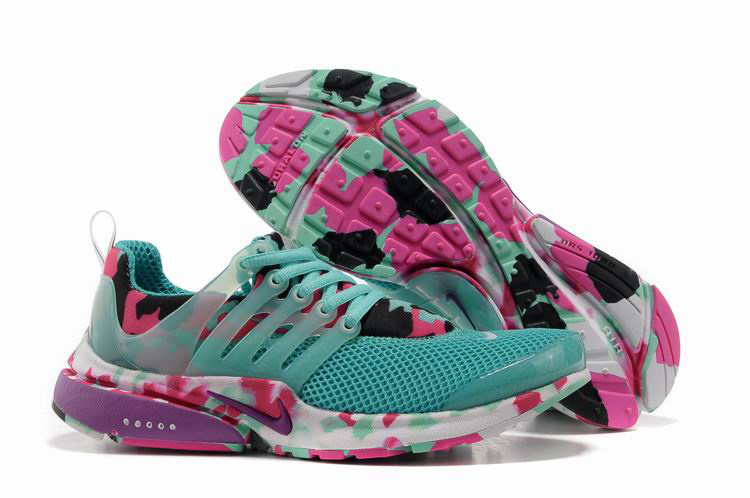 Women Nike Air Presto 1 Camo Green Pink Shoes