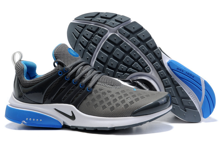 Women Nike Air Presto 2 Carve Grey Black Blue Shoes With Holes