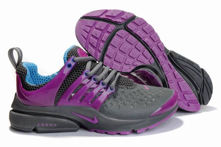 Women Nike Air Presto 2 Carve Grey Purple Shoes With Holes