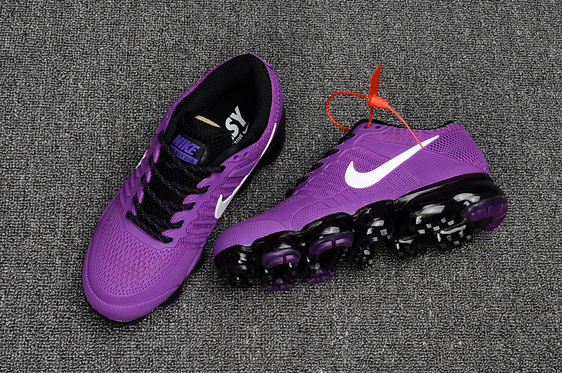 huge discount a8f6c 46f23 Women 2017 Nike Air Vapormax Flyknit Purple Black