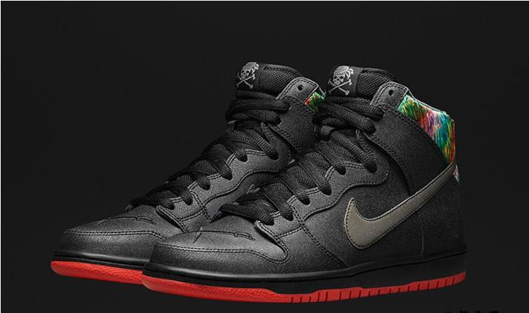 reputable site 82465 e6fe6 Women Nike Dunk High SB Gasparilla Spot Black Red Shoes