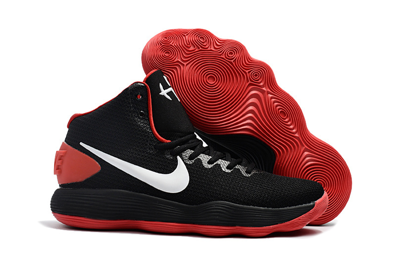Women Nike Hyperdunk 2017 EP Black Red White Basketball Shoes
