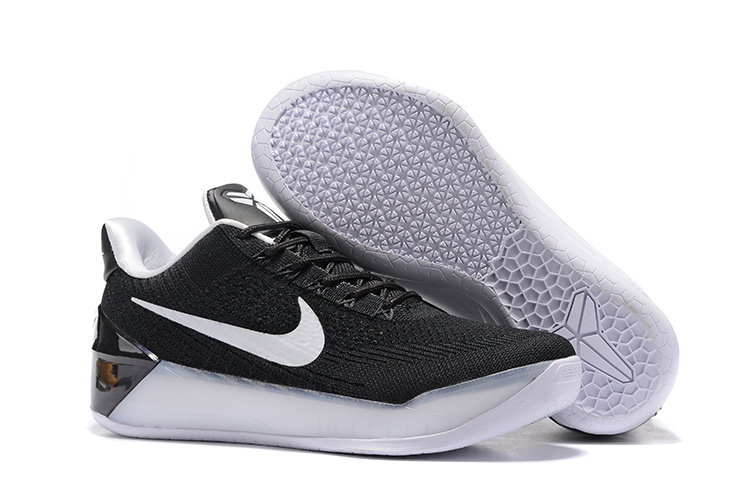 Women Nike Kobe A.D Flyknit Black White Shoes