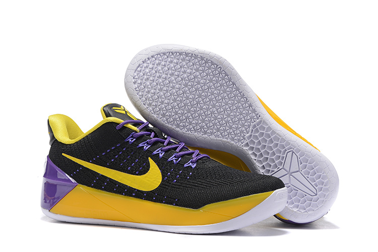 Women Nike Kobe A.D Flyknit Black Yellow Purple Shoes