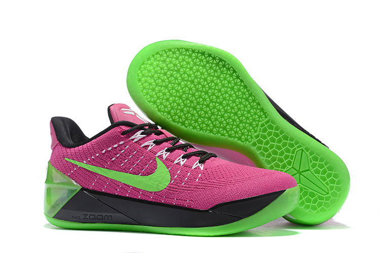 Women Nike Kobe A.D Flyknit Purple Green Black Shoes