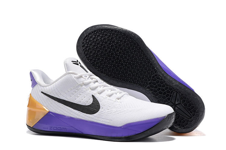 Women Nike Kobe A.D Flyknit White Purple Black Shoes