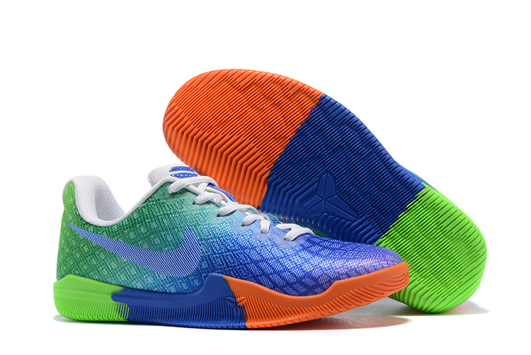 Women Nike Kobe Mentality 3 Blue Green Orange Shoes
