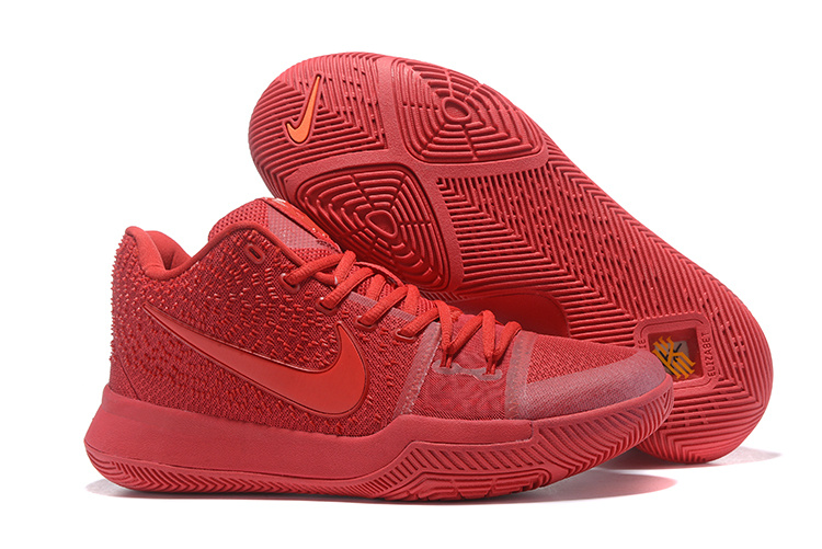 Women Nike Kyrie 3 All Red Basketball Shoes