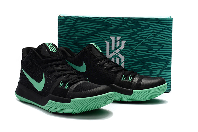 2e4979776be4 Women Nike Kyrie 3 Black Green Basketball Shoes