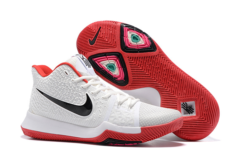 Women Nike Kyrie 3 White Red Basketball Shoes