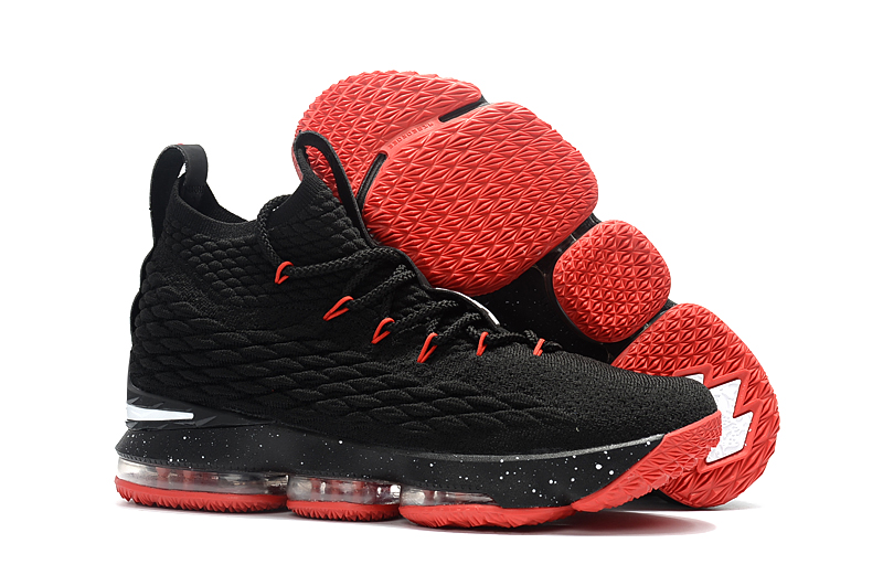 Women Nike Lebron 15 Black Red Shoes