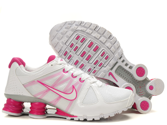 Women Nike Shox Agent+ White Pink Shoes