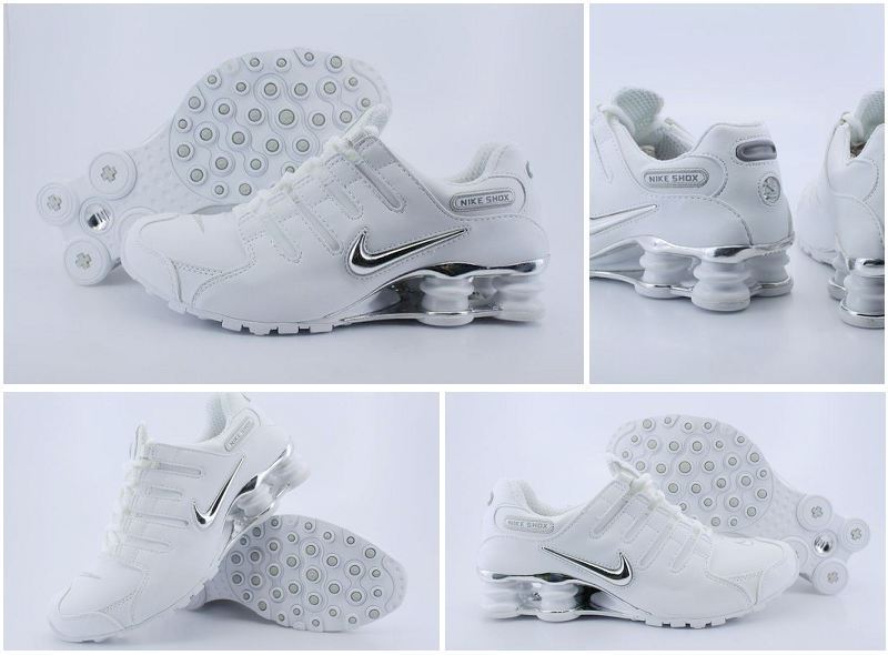 Women Nike Shox NZ White Black Logo Shoes