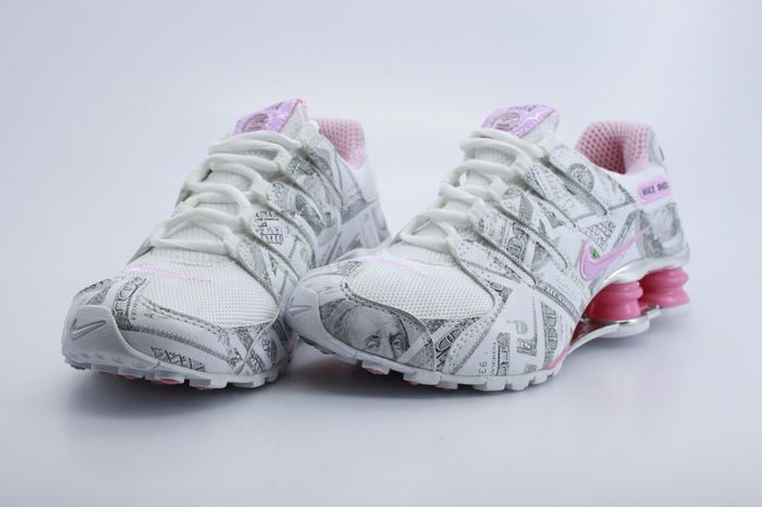 Women Nike Shox NZ White Grey Pink Shoes