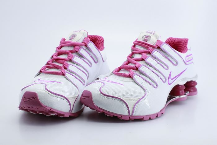Women Nike Shox NZ White Hot Pink Shoes