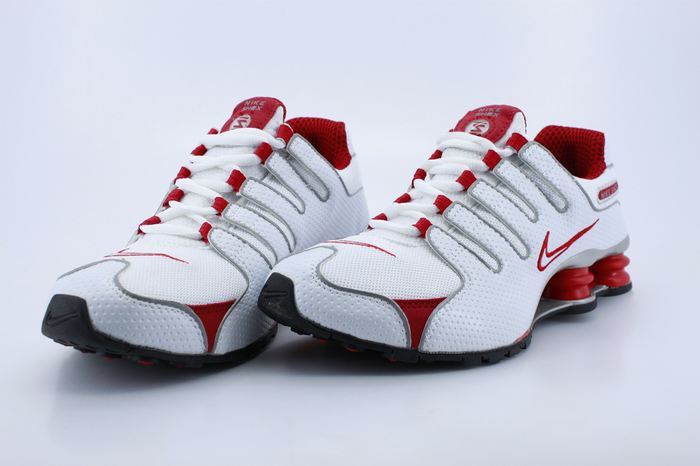 Women Nike Shox NZ White Red Footwear