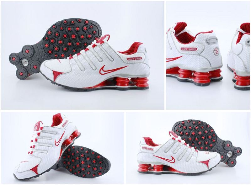 Women Nike Shox NZ White Red Shoes