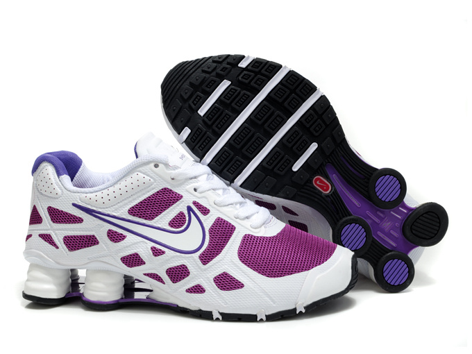 separation shoes aafa7 c778c Women Nike Shox Turbo 12 Mesh White Purple Shoes