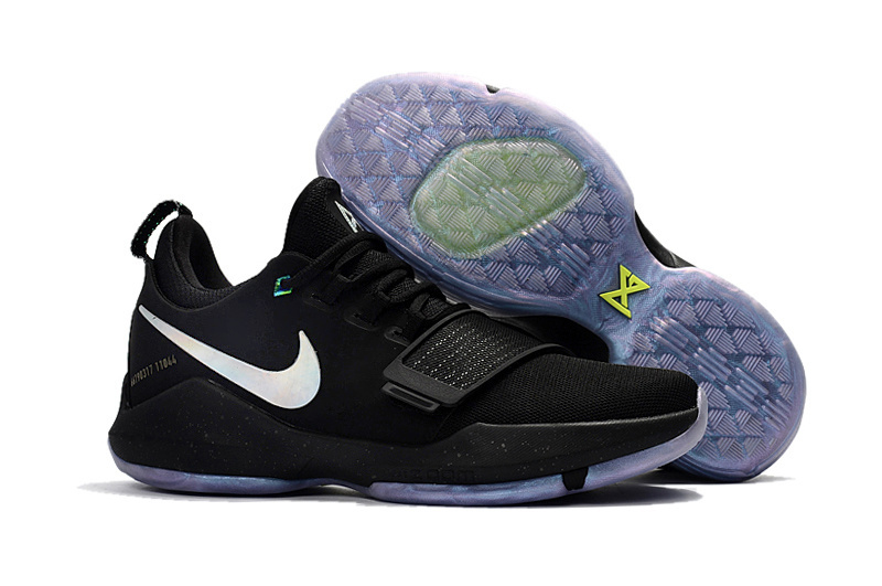 Women Nike Zoom PG 1 Black White Blue Sole Shoes