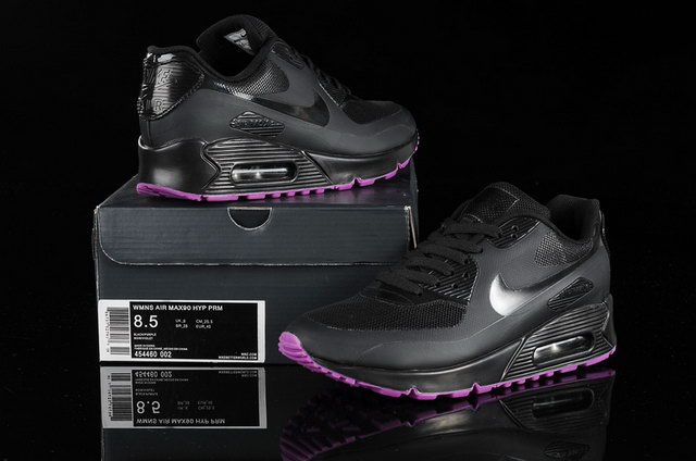 Womens Nike Air Max 90 Hyperfuse With Black Rose