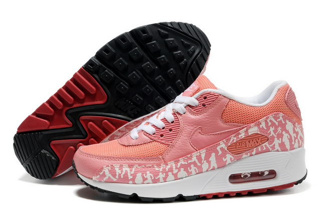 Womens Nike Air Max 90 Light Pink White Shoes