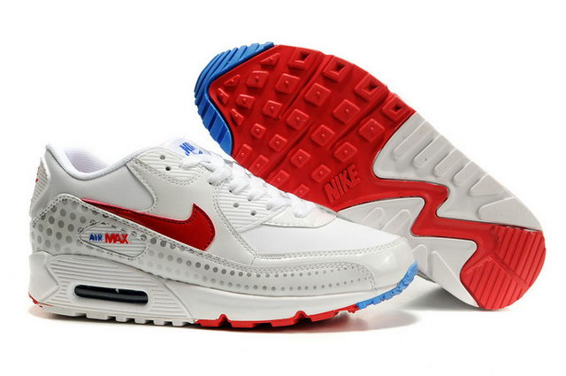 Womens Nike Air Max 90 Shoes White Voltage Cherry