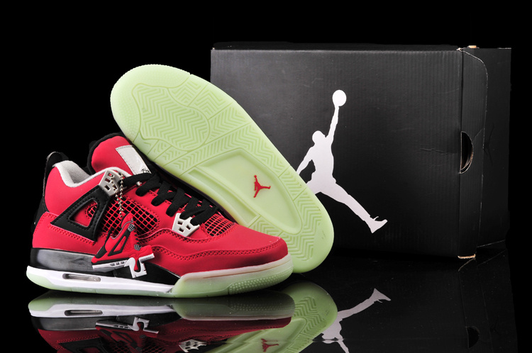 Nike Jordan 4 Midnigh Red Black Shoes For Women