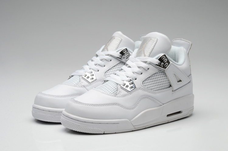 Nike Jordan 4 Shoes For Women All White