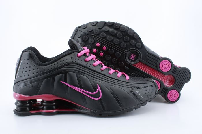 detailed look 69f8c 91e57 Womens Nike Shox R4 Black Wine Red Footwear