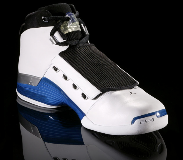 cool nike air jordan 17 og white college blue black shoes