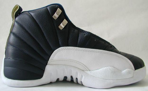 Nike Air Jordan 12 Og Obsidian Obsidian White French Blue Gold