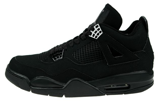 nike jordan 4 retro black cat black black light graphite shoes